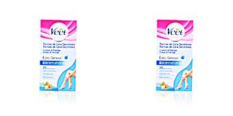 Hair removal wax BANDAS DE CERA depilatorias corporales piel seca Veet