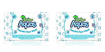 Toalhetes KANDOO AQUAS flushable aqua wipes Dodot