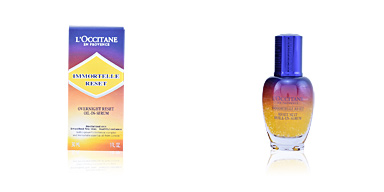 Skin lightening cream & brightener IMMORTELLE reset overnight oil in serum L'Occitane