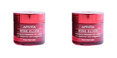 Tratamento para flacidez do rosto WINE ELIXIR wrinkle & firmness lift cream rich texture Apivita