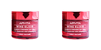 Anti-rugas e anti envelhecimento WINE ELIXIR wrinkle & firmness lift cream light texture Apivita