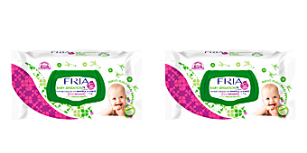 Hygiene for kids - Wet wipes FRIA BABY SENSATION toallitas emolientes con tapa Fria