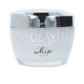 Tratamiento Facial Iluminador WHIP LUMINOUS crema hidratante activa SPF30 Olay