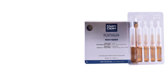 Skin tightening & firming cream  PLATINUM NIGHT RENEW ampoules Martiderm