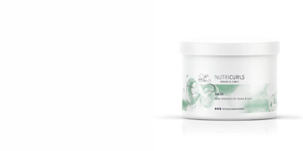 Mascarilla antiencrespamiento NUTRICURLS mask Wella