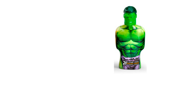 Hygiene for kids AVENGERS HULK gel & champú 2en1 Cartoon