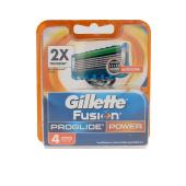 Lâmina de barbear FUSION PROGLIDE cargador 4 recambios Gillette