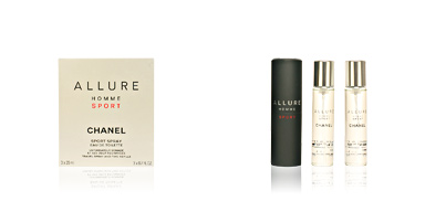 Chanel ALLURE HOMME SPORT travel spray and two refills 3 x 20 ml