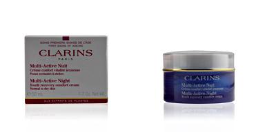 Soin du visage hydratant MULTI-ACTIVE crème nuit peaux normales à sèches Clarins