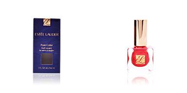 PURE COLOR nail lacquer #10-hot coral Estée Lauder