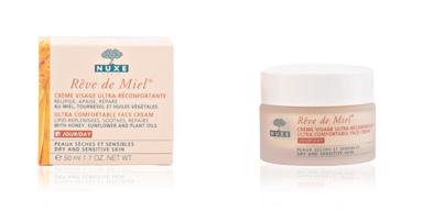 Tratamento hidratante rosto RÊVE DE MIEL crème visage ultra-réconfortante peaux sèches et sensibles Nuxe