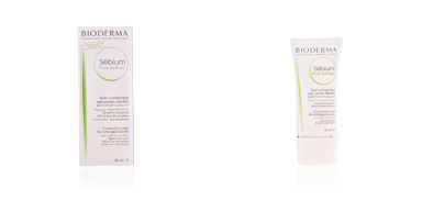 Acne Treatment Cream & blackhead removal SEBIUM pore refiner concentré correcteur pores dilatés Bioderma