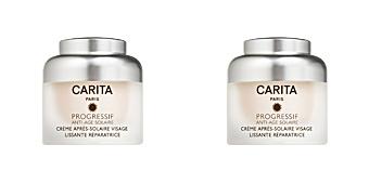 PROGRESSIF ANTI-AGE SOLAIRE crème après-solaire visage Carita