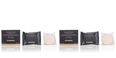 Chanel VITALUMIERE AQUA compact cream refill #34-beige ambré 12 gr