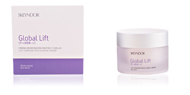 Anti aging cream & anti wrinkle treatment GLOBAL LIFT crema redefinición rostro y cuello piel seca Skeyndor