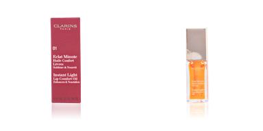 Clarins ECLAT MINUTE huile confort lèvres #01-honey 7 ml