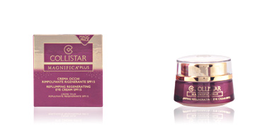 Dark circles, eye bags & under eyes cream MAGNIFICA PLUS replumping regenerating eye cream SPF15 Collistar