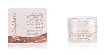 Anti aging cream & anti wrinkle treatment VENENO SERPIENTE crema antiarrugas de día SPF15 Babaria