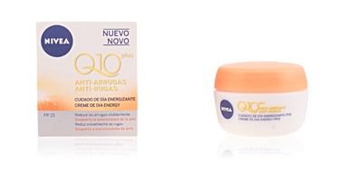 Anti aging cream & anti wrinkle treatment Q10+ anti-arrugas cuidado de día energizante SPF15 Nivea
