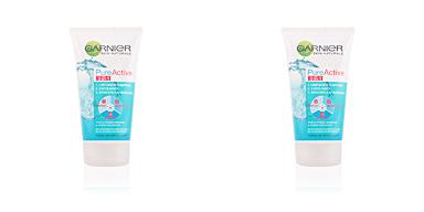 Face scrub - exfoliator PURE ACTIVE 3 en 1 gel limpiador pieles grasas Garnier