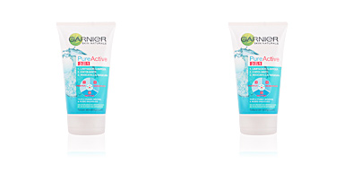Mascara facial PURE ACTIVE 3 en 1 gel limpiador pieles grasas Garnier
