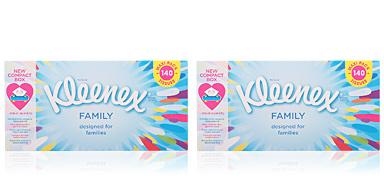 Kleenex KLEENEX pañuelos family 140 uds