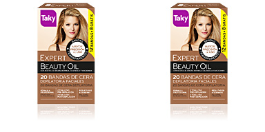 Taky BEAUTY OIL bandas de cera faciales depilatorias 12 uds