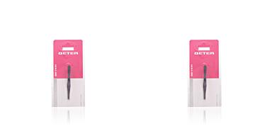 Pinzas de depilar PINZA depilar punta recta acero negro Beter