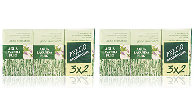 AGUA LAVANDA PUIG soap set 3 pz Agua Lavanda
