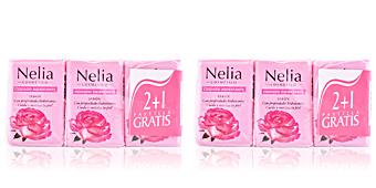 Nelia AGUA DE ROSAS JABÓN COFFRET 3 pz