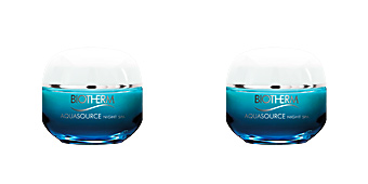 Skin lightening cream & brightener AQUASOURCE night spa Biotherm