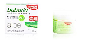 Face moisturizer ALOE VERA 24H moisturising face cream Babaria