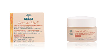 Tratamento hidratante rosto RÊVE DE MIEL crème visage ultra-réconfortante nuit Nuxe