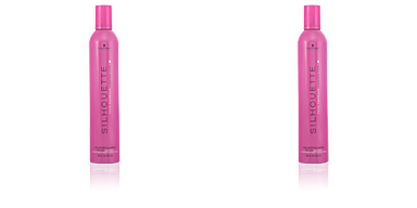 Fixation et Finition SILHOUETTE color brilliance mousse super hold Schwarzkopf