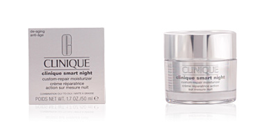 Anti aging cream & anti wrinkle treatment SMART NIGHT custom-repair moisturizer combinationn to oily skin Clinique