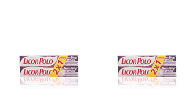 Licor Del Polo NON STOP WHITE DENTIFRICO SET 2 pz