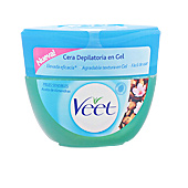 Hair removal wax CERA DEPILATORIA en gel aceite almendras piel sensible Veet