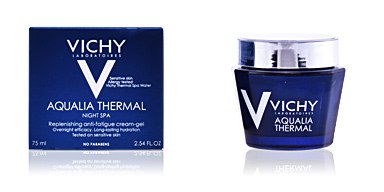 Antifatigue facial treatment AQUALIA THERMAL soin de nuit effet spa Vichy