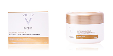 Hair mask for damaged hair DERCOS nutri réparateur masque riche Vichy