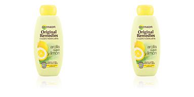 Garnier ORIGINAL REMEDIES champú arcilla suave y limón 400 ml