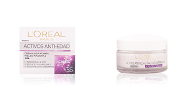 Anti aging cream & anti wrinkle treatment ACTIVOS ANTI-EDAD crema hidratante pieles maduras L'Oréal París