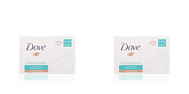 Jabón perfumado PURE & SENSITIVE CREAM BAR LOTE Dove