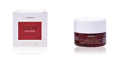 Anti aging cream & anti wrinkle treatment WILD ROSE advanced repair sleeping facial night Korres