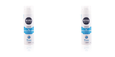 Shaving foam MEN SENSITIVE COOL gel afeitar 0% alcohol Nivea