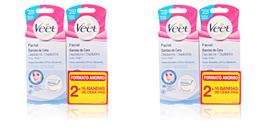 Veet BANDAS DE CERA DEPILATORIAS FACIALES PS COFFRET 2 pz