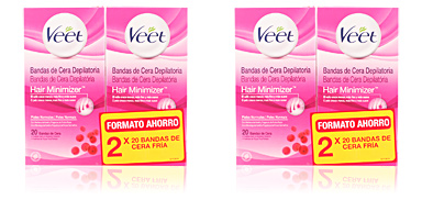 Hair removal wax BANDAS DE CERA DEPILATORIAS CORPORALES PN SET Veet