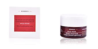 Face moisturizer WILD ROSE 24h moisturising & brightening cream Korres