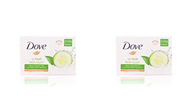 Dove JABON CREMA GO FRESH PEPINO & TE green SET 2 pz