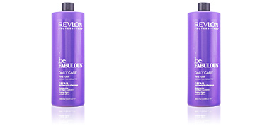 BE FABULOUS daily care fine hair cream shampoo Revlon