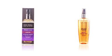 Hair styling product FRIZZ-EASE aceite elixir argan John Frieda